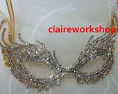 Luxurious metal party mask fashion hollow out design Masquerade Wedding Mask rhinestone lace princess queen bride mask bachelorette party
