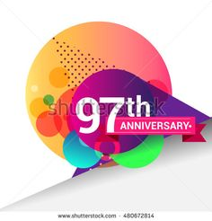 Anniversary logo, Colorful geometric background vector design template elements for your 50 years birthday celebration. 50th Anniversary Logo, Happy Anniversary, Geometric Background, Portfolio, Vector Design, Vector Art, Design Art, Graphic Design, 6 Years