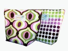 Reusable Snack Bags Set of 2  Groovy by CoozyCo on Etsy, $12.00
