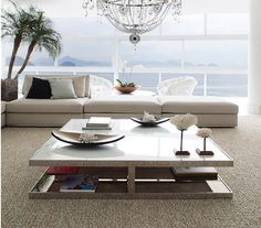 Contemporary design in a neutral colour palette. Furniture from Minotti, Huber coffee table