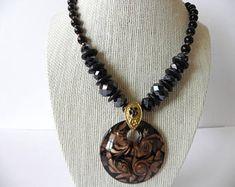 swarovski necklace, Swarovski negro,necklace witn pendant, women necklace, teen necklace, gift for her, accesorios