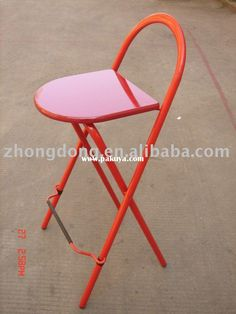 Modern red folding bar stool Pop of color in kitchen!  your stools are too dull