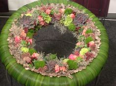 Artist and design by Edyty Zając Chruściel Wedding Door Wreaths, Wedding Doors, Church Flower Arrangements, Floral Arrangements, Floral Artwork, Funeral Flowers, Summer Wreath, How To Make Wreaths, Flower Decorations