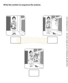 math worksheet : picture sequence worksheet 18  esl efl worksheets  kindergarten  : Sequencing Kindergarten Worksheets