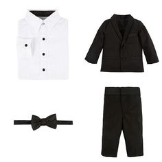 Four Piece Tuxedo Suit Set