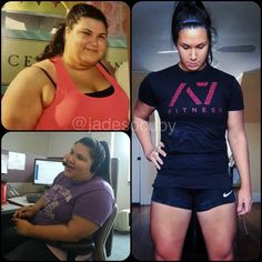 Body Transformation: Jade Socoby's Powerlifting Journey Tired of giving up, Jade set out on a fitness journey that helped her not only lose weight, but build the muscle and confidence to become a competitive powerlifter! Before And After Weightloss, Weight Loss Before, Weight Loss Goals, Best Weight Loss, Weight Loss Journey, Journey Journey, Fitness Transformation, Transformation Du Corps, Fitness Motivation