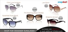 #Sunglasses & #Aviators to keep your eyes protected, also making a very fashionable statement.      http://www.snapdeal.com/products/lifestyle-sunglasses?=plrty=Fbpost_campaign=Delhi_content=814010_medium=081012_term=Prod