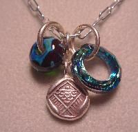 5 Fish Designs - Handcrafted Glass Trinket Necklaces