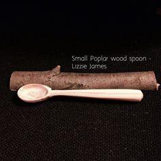 Hand carved Poplar wood teaspoon - Lizzie James
