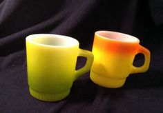 Lot of FIRE KING Anchor Hocking Mug Cup LIME by HappyGirlThrift, $30.00