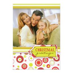 Happy Holiday Polka Dot Two Photo Card  Click on photo to purchase. Check out all current coupon offers and save! http://www.zazzle.com/coupons?rf=238785193994622463&tc=pin #cards #holidays #christmas  #christmascards #photos #photocards #believe #greetings #holidaycards  #xmas #xmascards #greetingcards #personalized #customized #dots #polkadots