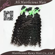 Hairlicious remy hair products mixed size 3pc/lot/300g unprocessed brazilian virgin deep curly wave natural color free shipping  $120.69