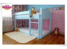 ŁÓŻKO PIĘTROWE MIKA 160 X 80 ZASŁONKI BŁĘKITNE Bunk Beds, Toddler Bed, Furniture, Home Decor, Child Bed, Decoration Home, Loft Beds, Room Decor, Home Furnishings