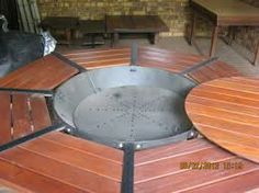 Making A Braai Inside A Table Wow Back Yard