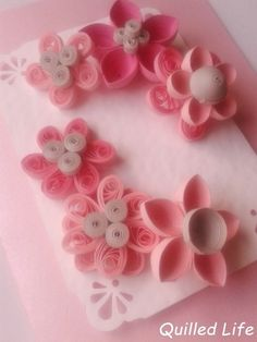 Quilled Life: Tęsknota za wiosną #quilling #handmade #handcraft #craft #paper #paperflowers #diy #birthdaycard