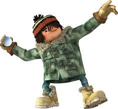 Chabot (voix de GILDOR ROY) – Chabot pour sa part n'a peut-être pas inventé l'eau chaude, mais il a pour lui une force herculéenne qui lui permet de foncer dans le tas (de neige) sans trop se poser de questions. Ôtez-vous de d'là, Chabot arrive!