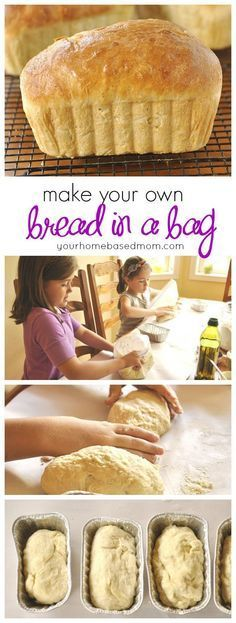 Kids Meals Kids will love making their own bread in a bag! Great activity to do before school starts. - Making Bread in a Bag is going to become a favorite activity! Little kids and big kids alike will love making their own loaf of bread. How To Make Bread, Food To Make, Fun Foods To Make, Kids Meals, Easy Meals, Toddler Meals, Bread Bags, Good Food, Yummy Food