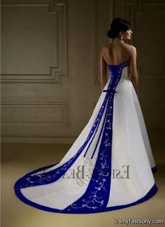 white and royal blue wedding dresses 2016 2017 b2b fashion