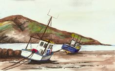 """New art piece """"The Boats 2012"""" by LeannesArtStudio on Etsy"""