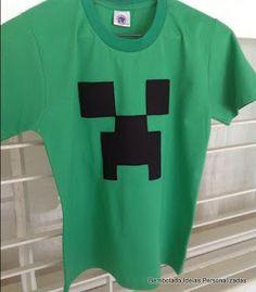 camiseta minecraft como lembrancinha                                                                                                                                                                                 Mais