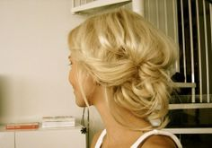 Spring wedding hairstyle idea…..but wow