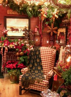 Country Christmas Living Room | christmas we will blow you away we re doing cozy country christmas ...