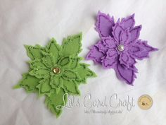 Christmas Flowers  Scrapbooking Embellishment  by LilsCardCraft, $4.00