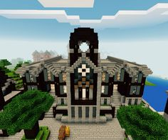 minecraft town hall simple cool buildings 2d designs very castle board creations took hours couple uploaded mcpe