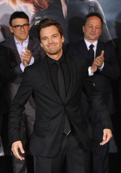 Sebastian Stan attends the premiere of Marvel's 'Captain America: The Winter Soldier' at the El Capitan Theatre on March 13th, 2014