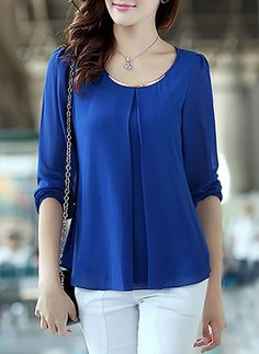 Shop Womens Fashion Tops, Blouses, T Shirts, Knitwear Online Mode Outfits, Fashion Outfits, New Blouse Designs, Blouse Dress, Fashion Sewing, Women's Summer Fashion, Chiffon Tops, Shirt Blouses, Blouses For Women