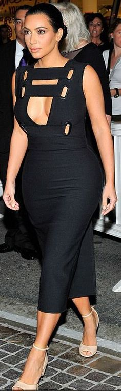 Kim Kardashian: Shoes – Givenchy  Dress – Yulia Kondranina