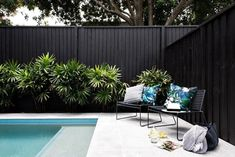 If you are working with the best backyard pool landscaping ideas there are lot of choices. You need to look into your budget for backyard landscaping ideas Pool Fence, Backyard Fences, Backyard Landscaping, Landscaping Ideas, Tropical Pool Landscaping, Landscaping Along Fence, Swimming Pools Backyard, Swimming Pool Designs, Outdoor Spaces