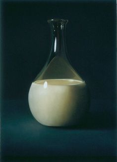 Decanter of milk | oil on canvas
