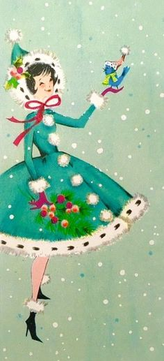 22 Ideas For Vintage Retro Decor Christmas Cards Vintage Christmas Images, Old Christmas, Old Fashioned Christmas, Retro Christmas, Vintage Holiday, Christmas Pictures, Christmas Greetings, Christmas Holidays, Christmas Crafts