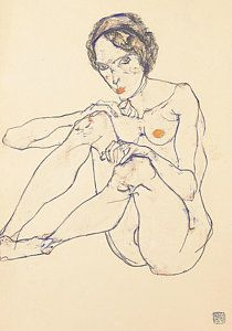 Image result for Standing Nude, 1911 Egon Schiele
