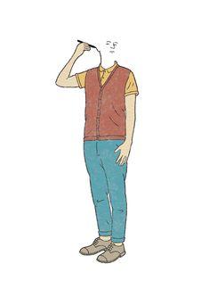 Self Portrait - robbie porter illustration