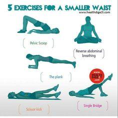5 Exercises for a smaller waist. #healthdigezt