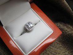 White Sapphire engagement ring.