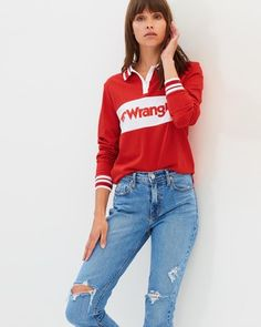 Jeans Team Rugby Jumper Buy Jeans, Polo Shirt Women, Jumpers For Women, Rugby, Graphic Sweatshirt, Goals, Sweatshirts, Clothing, Sweaters