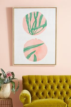 Pink Circles Wall Art