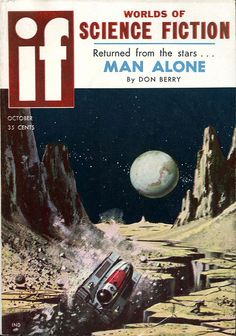 scificovers:  Worlds of If October 1958. Cover by Ed Valigursky.