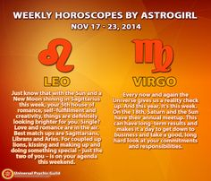 #Astrology Updates: Weekly #Horoscopes for #ZodiacSigns #Leo and #Virgo