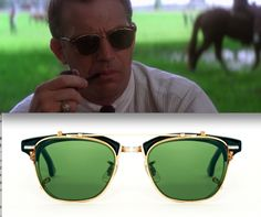 Kevin Costner in J.F.K. with vintage Shuron Ronsir zyl & American Optical Clip ons