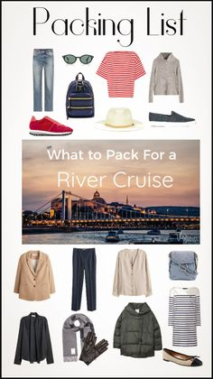 Viking River Cruise packing List with Cruise Packing Tips- Preparing for your first river cruise? Let us take the guess work out of what to pack. Packing List For Cruise, Cruise Europe, Cruise Travel, Packing Tips For Travel, Cruise Vacation, Travel Hacks, Packing Ideas, Packing Lists, Europe Packing