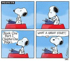 """Image from """"Snoopy's Guide to the Writing Life"""" Edited by Barnaby Conrad and Monte Schultz"""