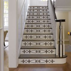 Vinyl Stair Decals For Staircase Riser Decor   Decorative Stair Riser Decal    Stair Stickers Decal