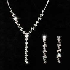 Austria Crystal Earrings necklace jewelry sets Fashion women Jewelry Set  for Wedding party holiday gift   11abbf90e509