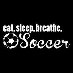 Eat Sleep Breathe Soccer by Mychristianshirts on Etsy