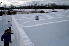 Cool Snow Maze at Voyageur Winter Carnival in Thunder Bay