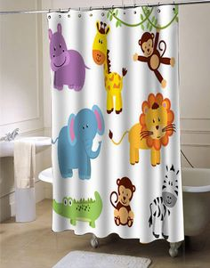 Zoo Animals Clipart Clip Art custom shower curtain curtains bathroom idea #showercurtain  #showercurtains  #curtain  #curtains  #bath  #bathroom  #funnycurtain  #cutecurtain